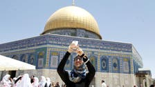 Palestinians connect to Jerusalem holy shrine with 'selfies'