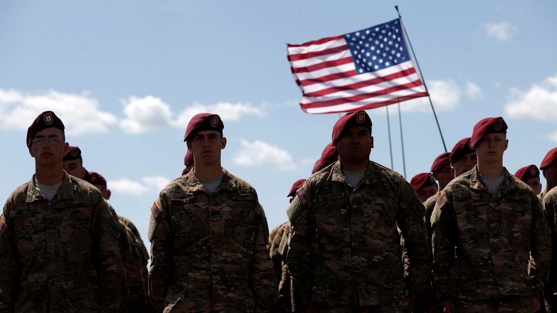 Members of the U.S. Army 173rd Airborne Brigade attend a combined Lithuanian-U.S. training exercise at the Gaiziunai Training Area some 110 kms (69 miles) west of the capital Vilnius Lithuania, Tuesday, July 7, 2015. (AP)