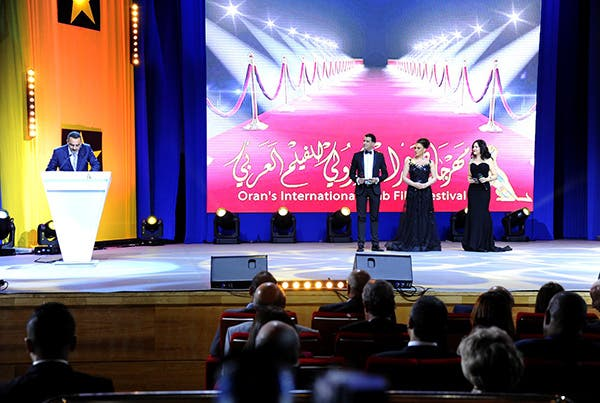 Brahim Sidikki, Commissioner of the International Oran Arab Film Festival, speaking at the Award ceremony.