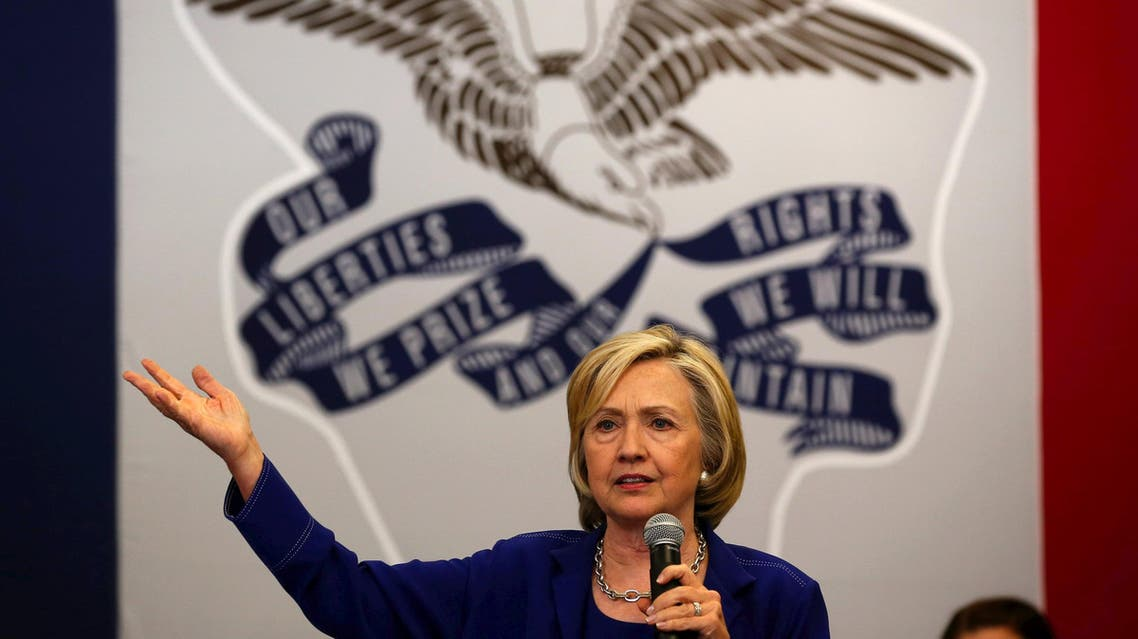U.S. Democratic presidential candidate Hillary Clinton speaks at a campaign event in Iowa City. (Reuters)
