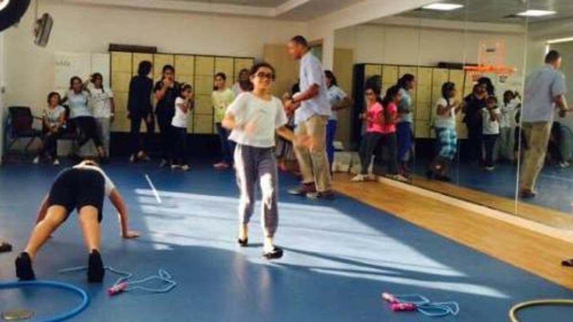 Children trained to do exercise as part of the anti-diabetics program. — Courtesy photo