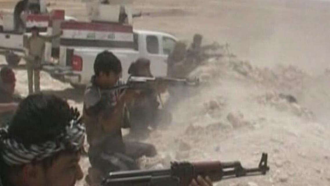 THUMBNAIL_ داعش يفجر جسر البوشجل الذي يربط الفلوجة بالصقلاوية