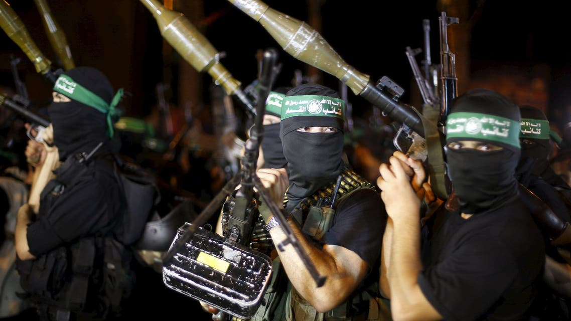 Palestinians Hamas militants march during an anti-Israel rally in Gaza City July 8, 2015. Reuters