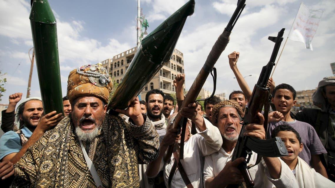 مقاتلون حوثيون في صنعاء (لقطة تعبيرية)
