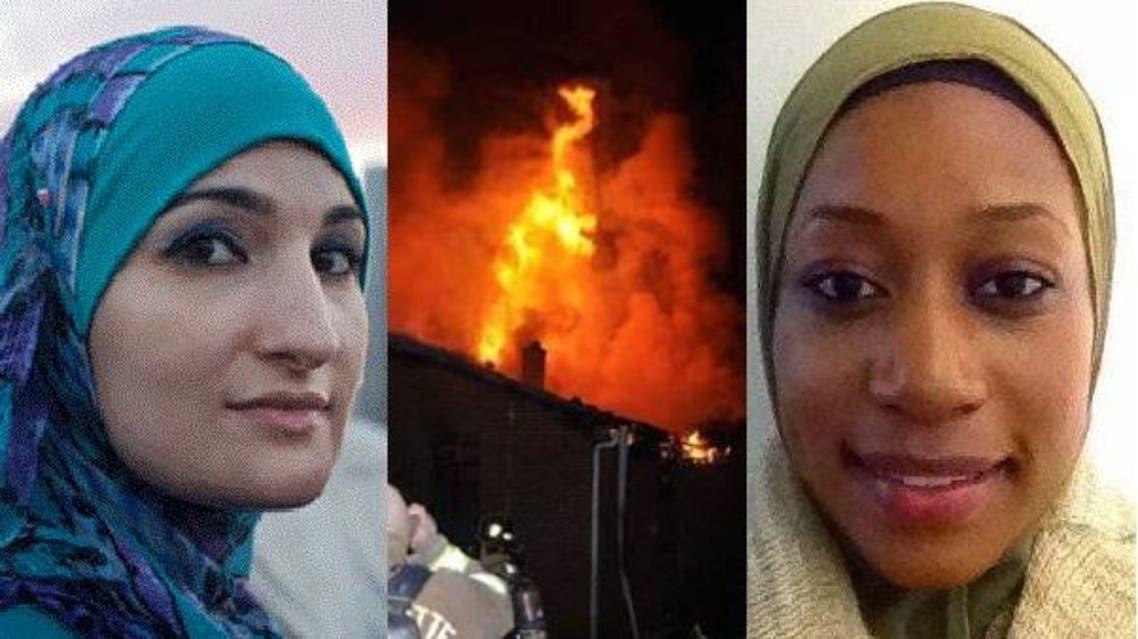 ناشطتان في الحملة لترميم ما أتت عليه الحرائق، فاطمة أمة الله وليندا صرصور