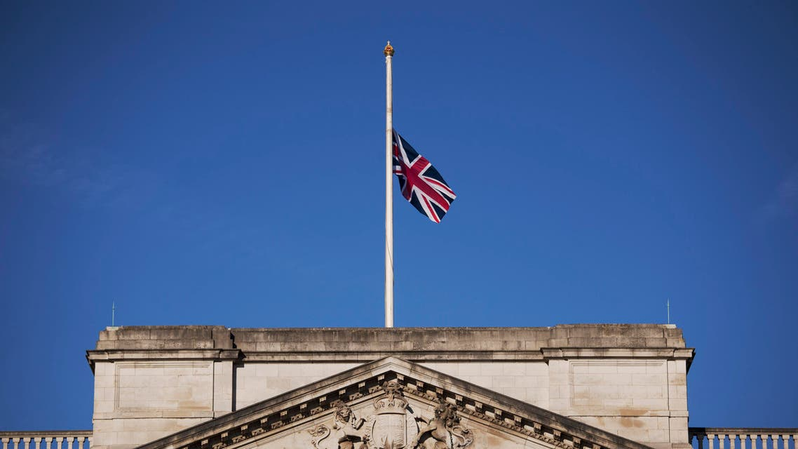 A Union flag flies at half-staff on Buckingham Palace in London, to mark an official day of mourning one week since the deadly Tunisia beach attack that killed 38 people Friday, July 3, 2015. (AP)