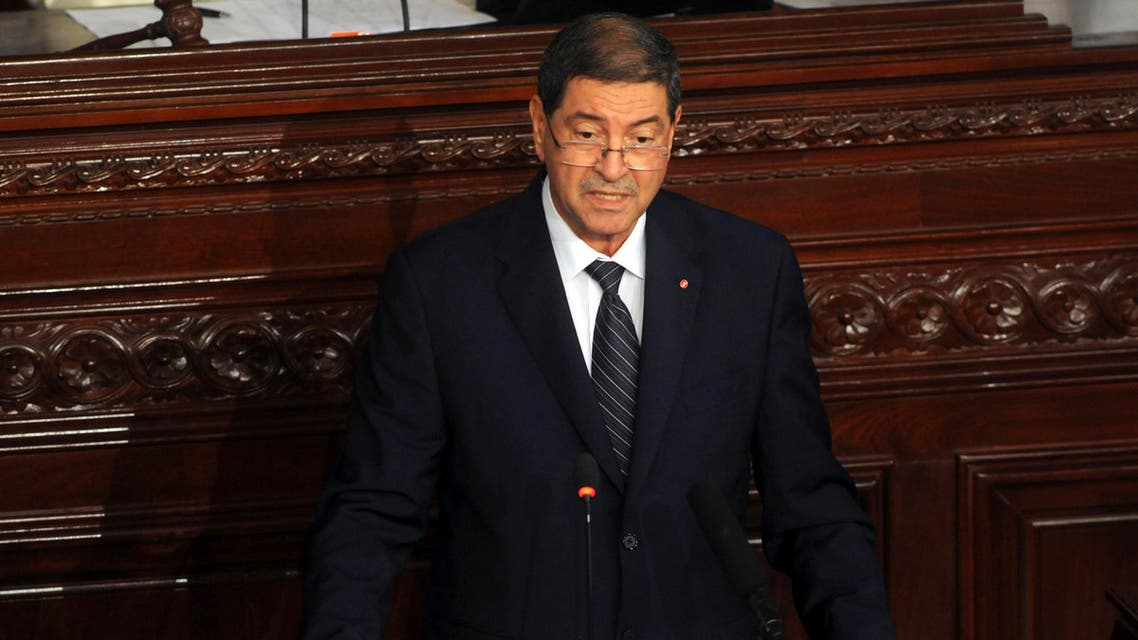 Tunisia's prime minister Habib Essid adresses the parliament in Tunis, Wednesday, July 8, 2015. AP