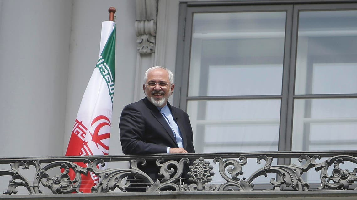 Iranian Foreign Minister Javad Zarif stands on the balcony of Palais Coburg, the venue for nuclear talks in Vienna. (File: Reuters)