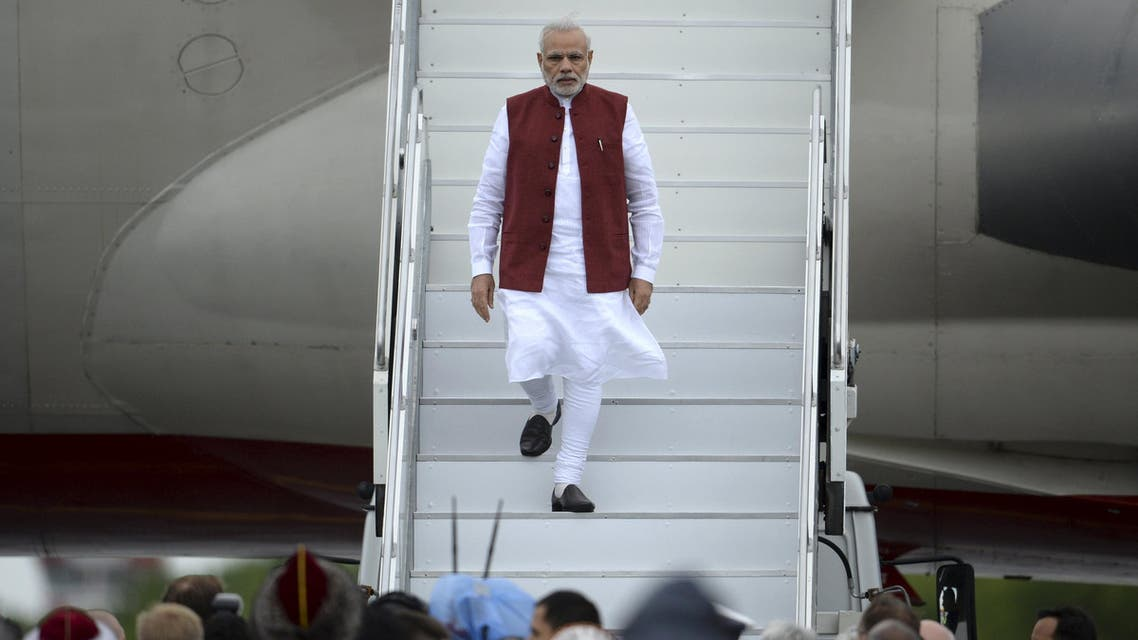 Indian Prime Minister Narendra arrivs in Ufa, Russia tp attend the BRICS summit. (File: Reuters)