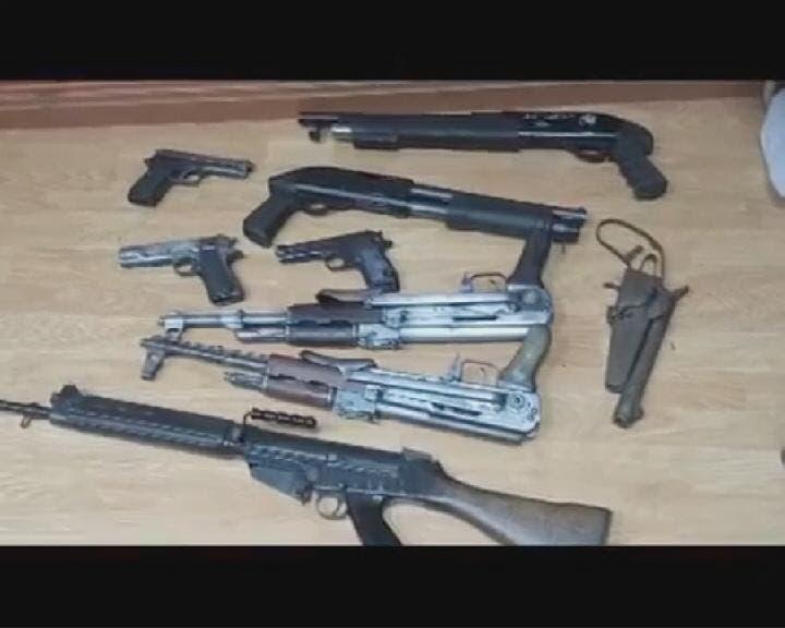 أسلحة ضبطت مع خلية إخوانية في مصر (أرشيفية)