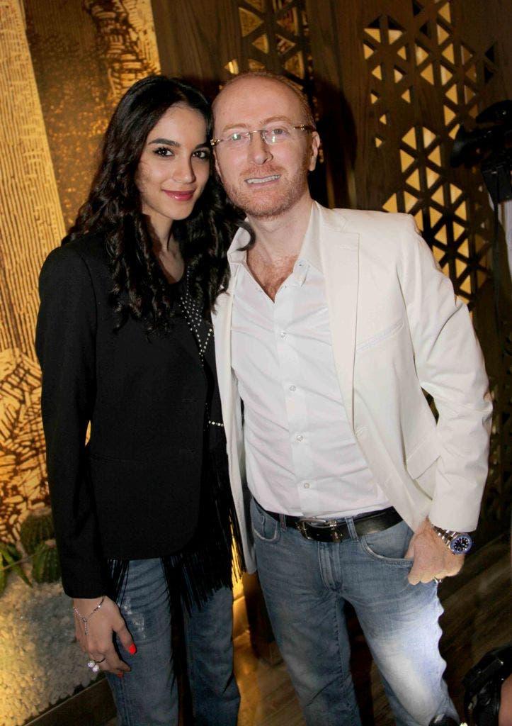 الممثل مصطفى الخاني وزوجته