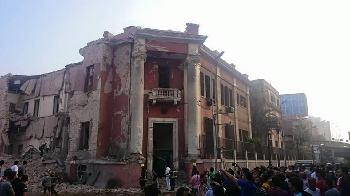 Medics said the explosion wounded two policemen outside the consulate and three passers-by. (Twitter)