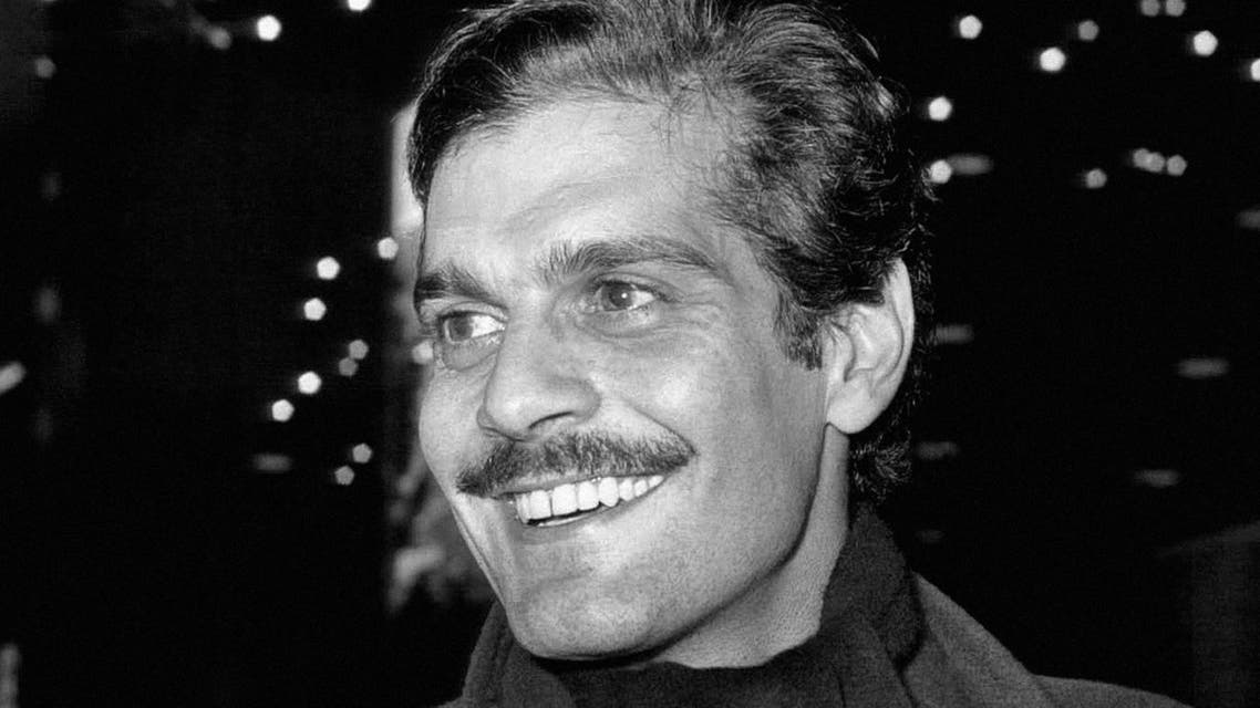 Egyptian actor Omar Sharif arrives at London Airport in 1963. (File: AP)