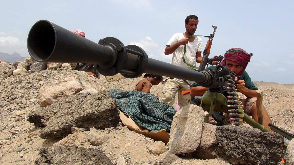 fighter from the Southern Popular Resistance mans a machine gun at the front line of fighting against Houthi fighters, on the outskirts of Yemen's southern port city of Aden June 6, 2015. (Reuters)