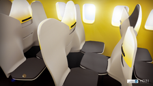 Would you sit like this? New airline seat arrangement proposed