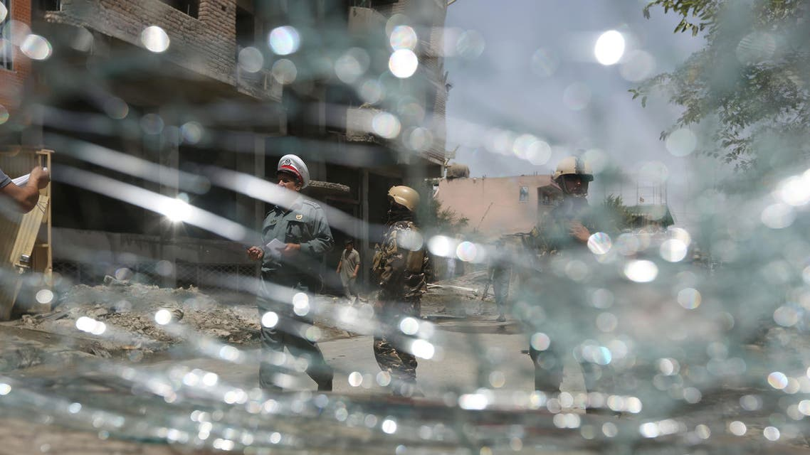 The bombing hit a checkpoint manned by members of the Khost Provincial Force, an Afghan unit that guards Camp Chapman for the American forces there. AP