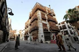 Historical buildings are seen in the UNESCO-listed heritage site in the Saudi Red Sea city of Jeddah. AFP