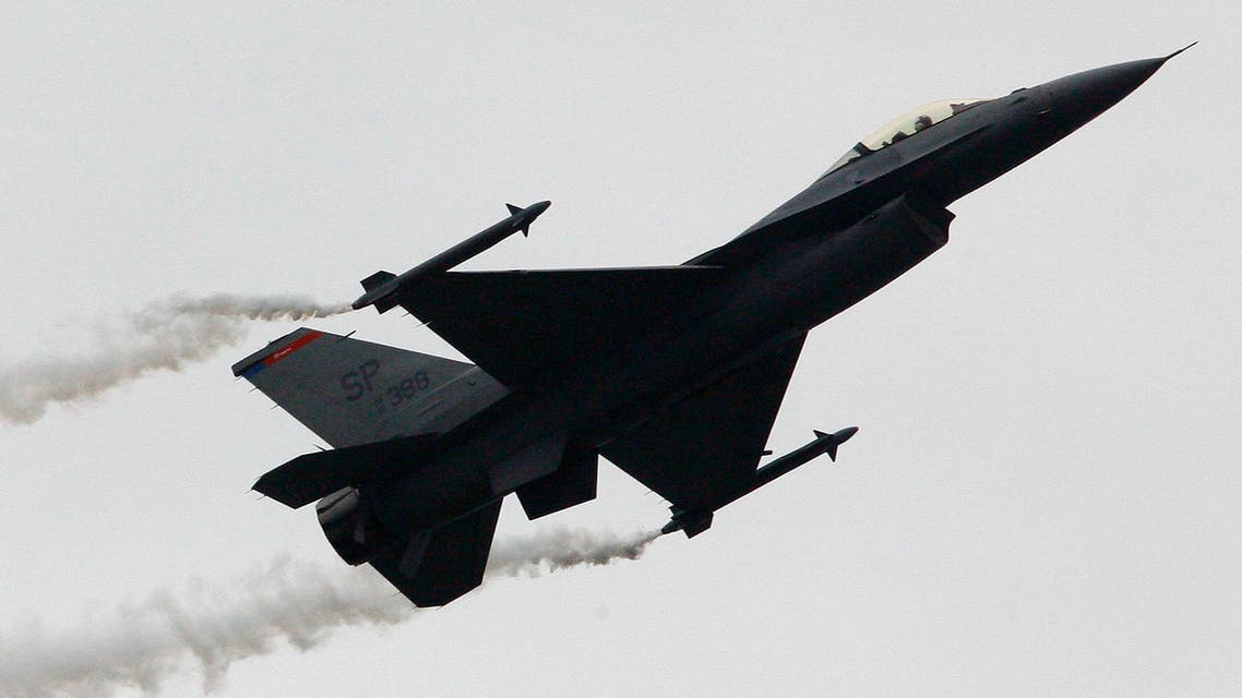 A U.S Air Force F16 jet fighter is seen during its exhibition fligh at an air show. (File: AP)