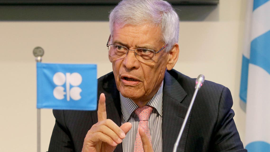 Secretary General of OPEC Abdalla Salem El-Badri of Libya speaks during a news conference after a meeting of the Organization of the Petroleum Exporting Countries, OPEC, at their headquarters in Vienna, Austria, Friday, June 5, 2015. (AP