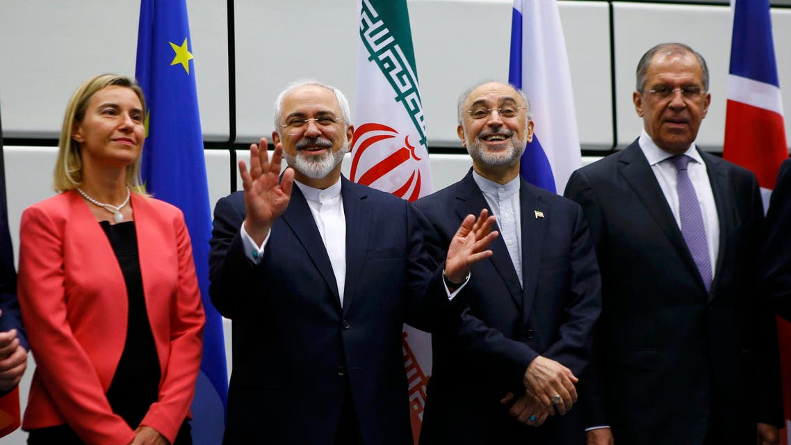 Iranian Fareign Minister Mohammad Javad Zarif (2nd L), High Representative of the European Union for Foreign Affairs and Security Policy Federica Mogherini (L), Iranian ambassador to IAEA Ali Akbar Salehi (2nd R) and Russian Foreign Minister Sergey Lavrov (R) Vienna, Austria 14 July, 2015. (Reuters)