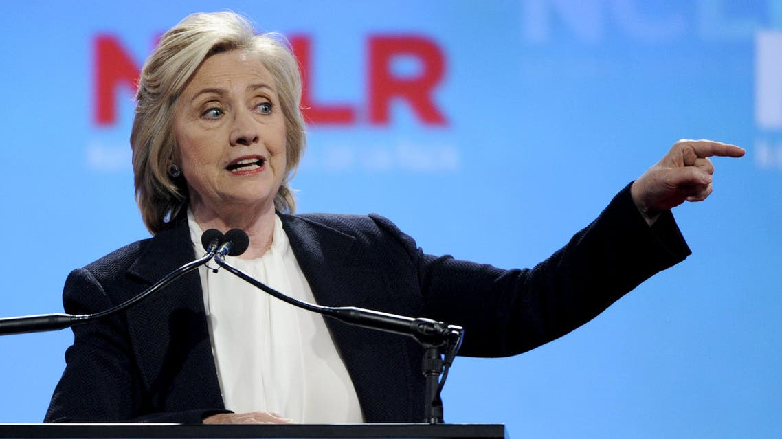 U.S. Democratic Presidential candidate Hillary Clinton speaks at the National Council of La Raza conference in Kansas City Missouri. (Reuters)