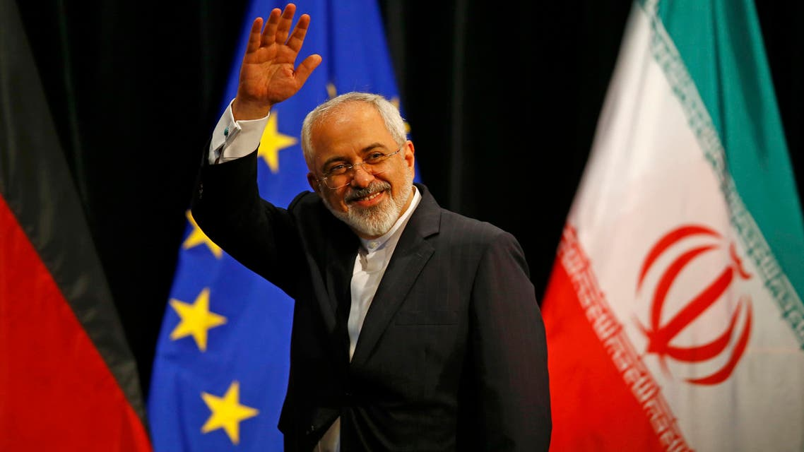 Iranian Foreign Minister Mohammad Javad Zarif waves after a plenary session at the United Nations building in Vienna, Austria July 14, 2015. AP