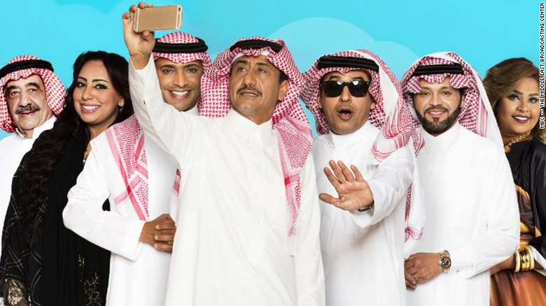 The cast of 'Selfie,' created by Saudi comedian Nasser Al Qasabi. The show became widely known for its satire against ISIS (MBC)