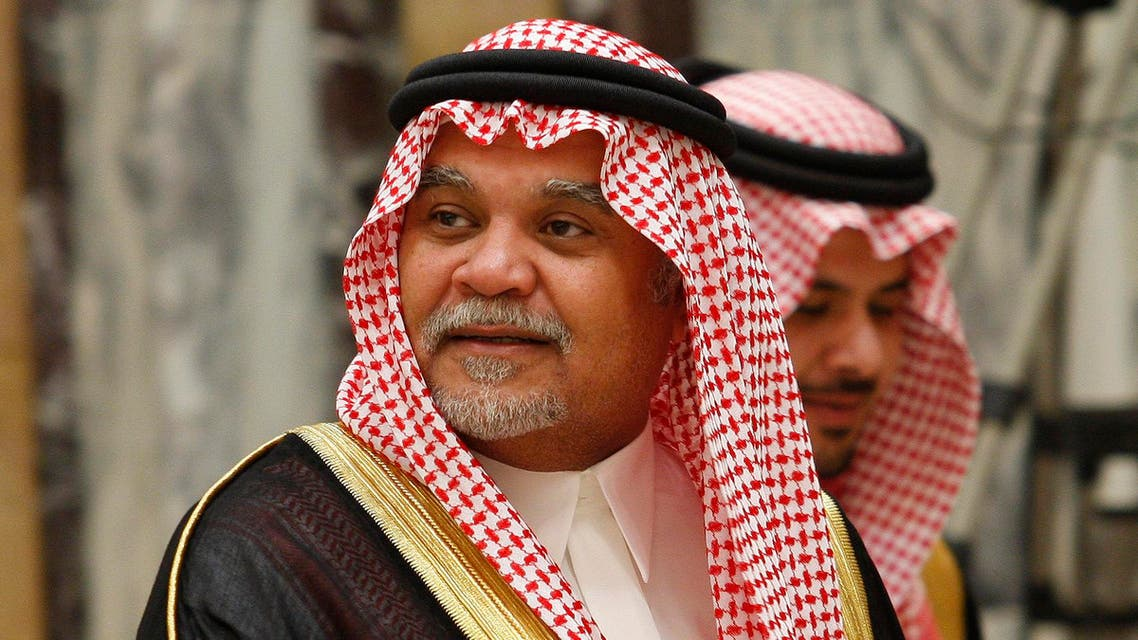 In this Wednesday, June 4, 2008 photo, Saudi Prince Bandar bin Sultan seen at his palace in Riyadh, Saudi Arabia. (AP)