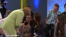 Merkel left speechless by sobbing Palestinian teen refugee