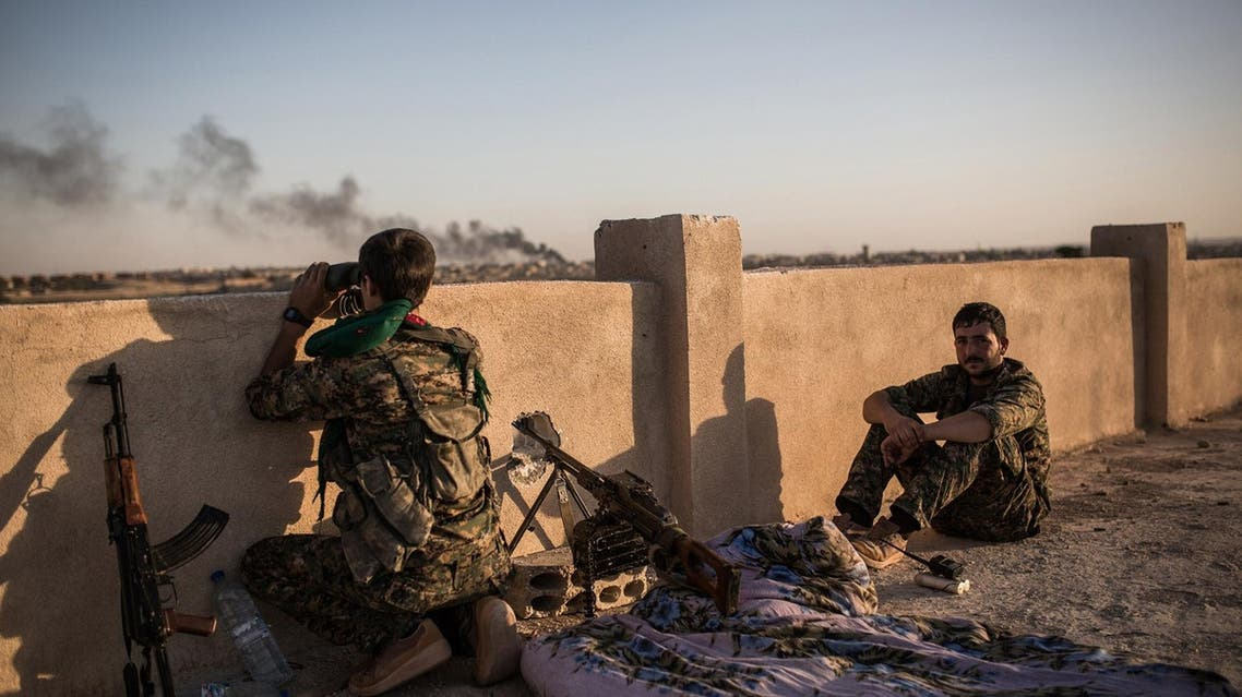 Kurdish fighters during clashes with Isis on the outskirts of the Syrian city of Hasakah. (File photo: AFP)