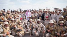 Saudi deputy crown prince visits southern-based forces during Eid