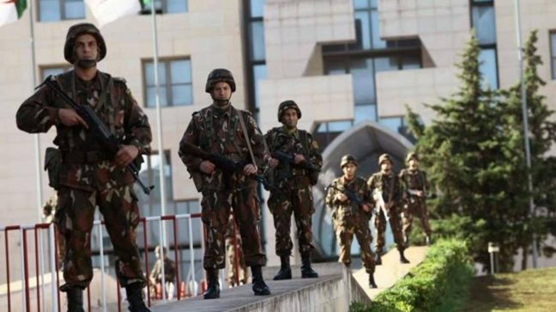 The Algerian Republican Guard is seen in front of the Presidential Palace in Algiers. (File: Reuters)