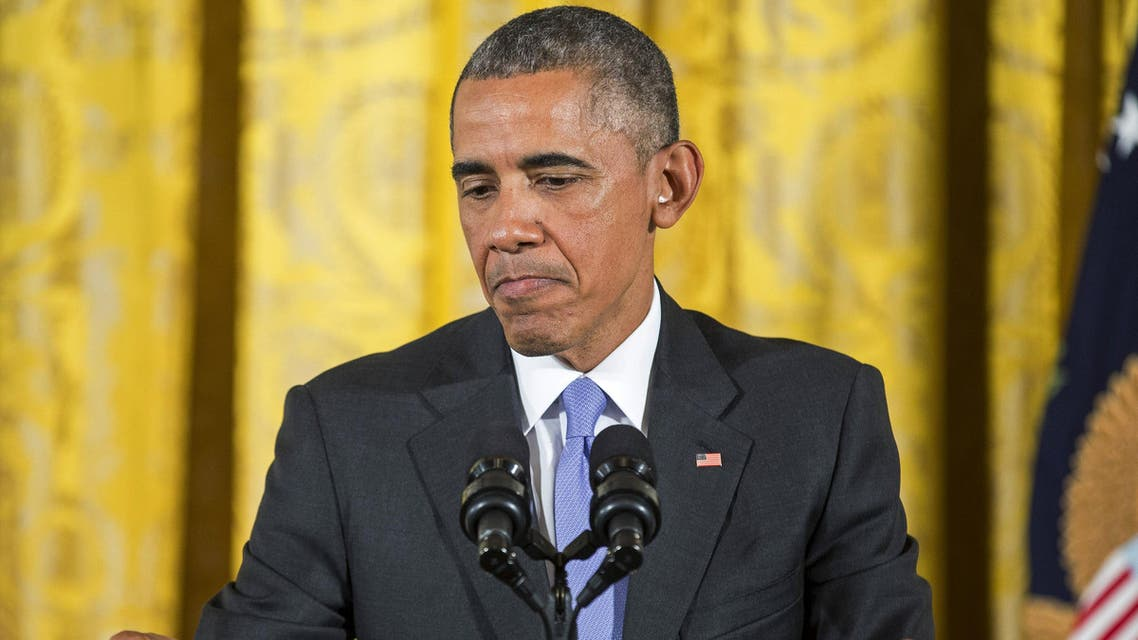U.S. President Barack Obama speaks during a news conference about the recent nuclear deal reached with Iran, in the East Room of the White House in Washington July 15, 2015.  (Reuters)