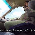 مردی زایمان همسرش را در ماشین و در راه بیمارستان فیلمبرداری کرد
