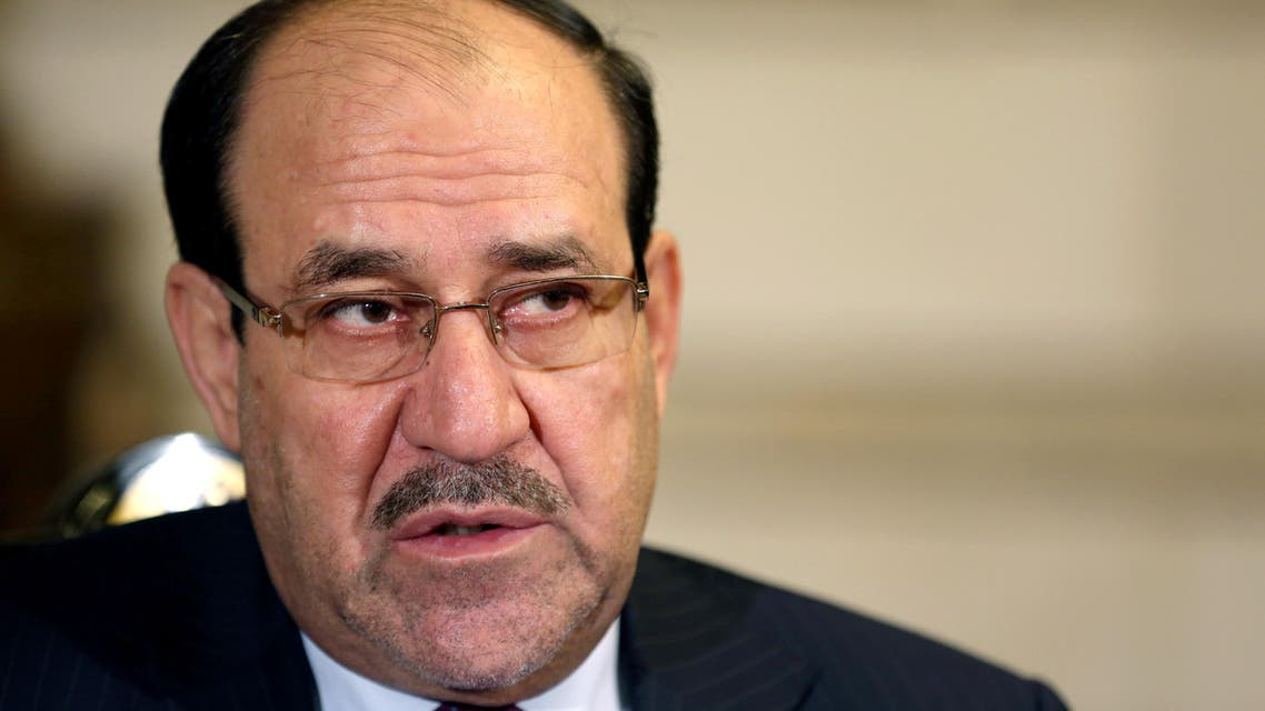Iraq's Vice President and former Prime Minister Nouri al-Maliki, listens to a question during an interview with The Associated Press in Baghdad, Iraq, Monday, Feb. 2, 2015.  AP