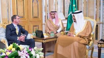 U.S. defense secretary meets Saudi monarch