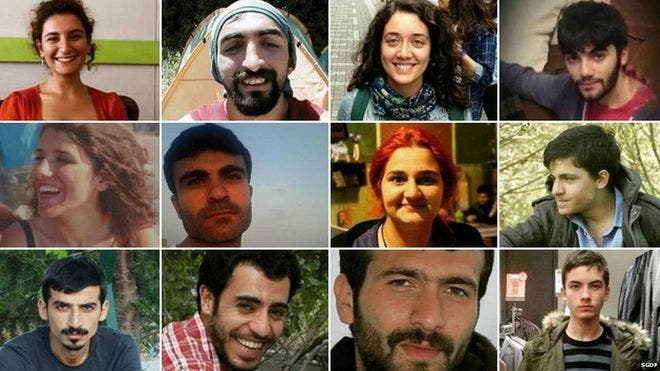The faces of some of the victims of the bomb blast in Suruc   BBC