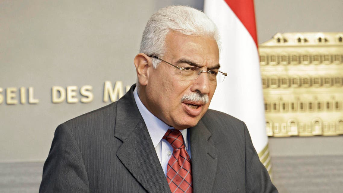 Former Egyptian Prime Minister Ahmed Nazii speaks during a press conference at the Government House in Beirut, Lebanon,  June 17, 2010. (AP)