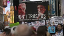 Americans pack Times Square to denounce Iran deal
