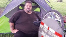Obese man biking across U.S. to lose weight