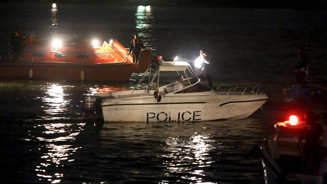 Police boats search for victims of a boat accident on the River Nile in the Warraq area of Giza, Egypt Reuters
