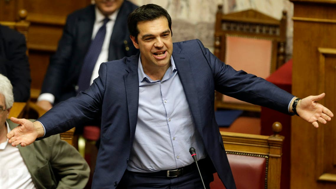 Greece's Prime Minister Alexis Tsipras speaks during an emergency parliament session in Athens, Thursday, July 23, 2015. (AP)