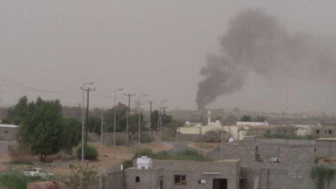 سقوط قذائف عسكرية قادمة من داخل الأراضي اليمنية على قرية الخوجرة