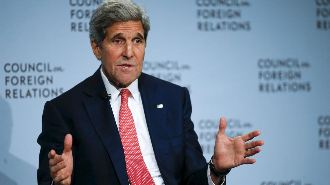 U.S. Secretary of State John F. Kerry speaks to the audience as he discusses the Iran nuclear deal with Council on Foreign Relations President Richard N. Haass at the Council on Foreign Relations (CFR) in New York July 24, 2015. (Reuters)