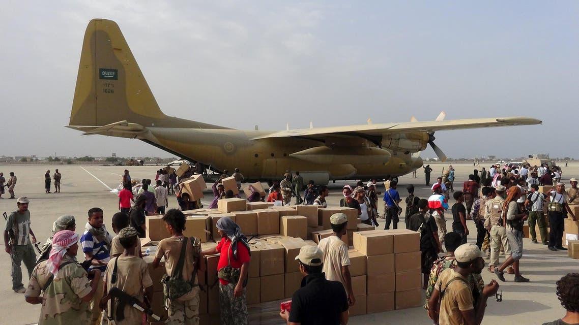 طائرة مساعدات سعودية عدن اليمن