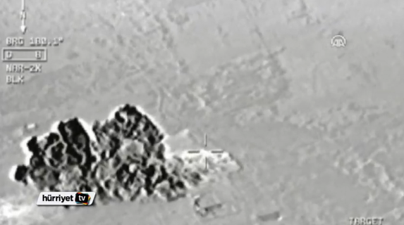 The footage also showed the smoldering remains of the targets (Video grab)