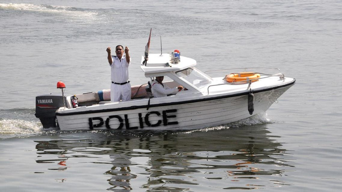 The captain of the cargo boat and his assistants were arrested following the accident late on Wednesday (AP)