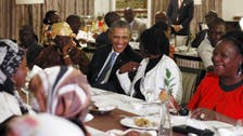 Obama dines with extended family in Nairobi