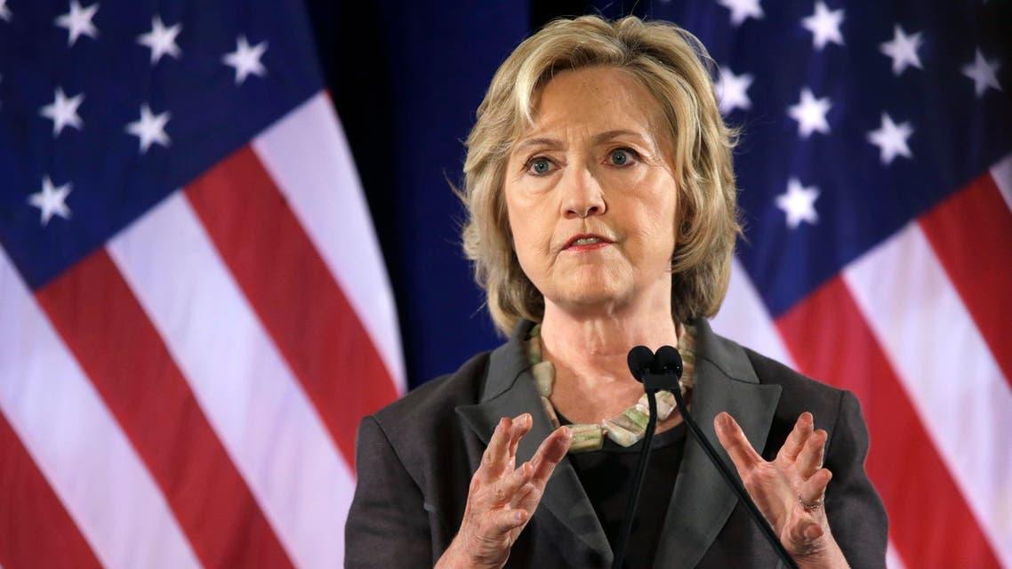 Democratic presidential hopeful Hillary Rodham Clinton speaks, Friday, July 24, 2015, at the New York University Leonard N. Stern School of Business in New York. (AP Photo/Mary Altaffer)