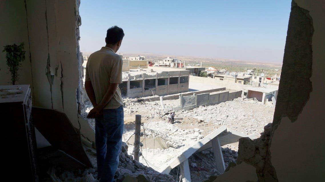 قصف درعا سوريا